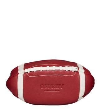 The Large Cardinal American Football Leather Washbag in caridinal | OSPREY LONDON