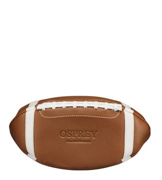 The American Football Leather Washbag in tan