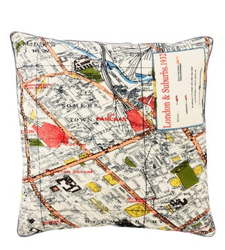 The Large Map Cushion London | OSPREY LONDON