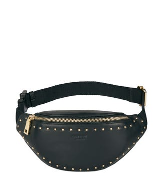 The Lennox Leather Sling Bag in black | OSPREY LONDON