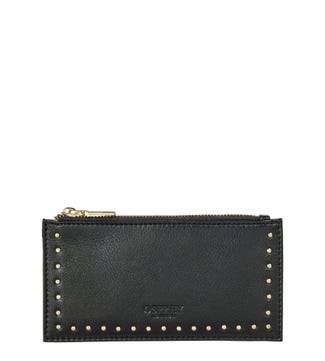 The Lennox Leather Card Pouch in black | OSPREY LONDON