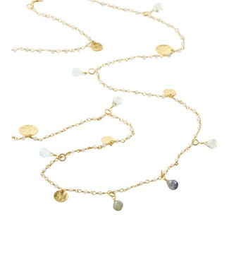 The Long Estrella 18ct Gold Vermeil & Gemstone Necklace | OSPREY LONDON