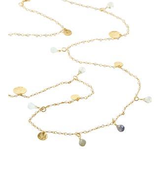 The Long Estrella 18ct Gold Vermeil & Gemstone Necklace | OSPREY LONDON