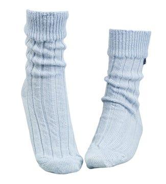 OSPREY LONDON Baby Blue Lounge Socks.