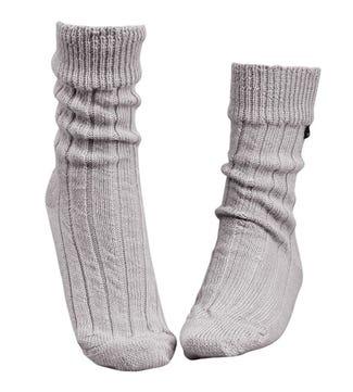 Luxury Alpaca Lounge Socks in grey   OSPREY LONDON