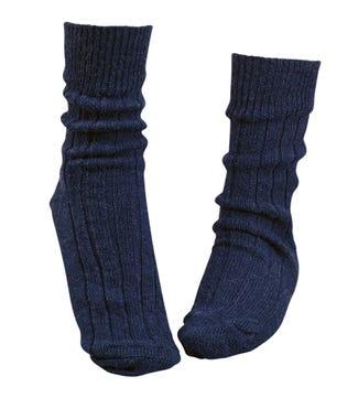 OSPREY LONDON Navy Lounge Socks.