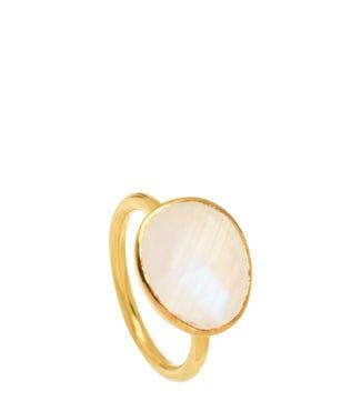 The Mara 18ct Gold Vermeil & Moonstone Ring | OSPREY LONDON