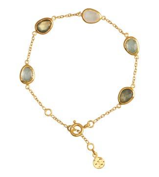 18ct Gold Vermeil & Gemstone Bracelet | OSPREY LONDON