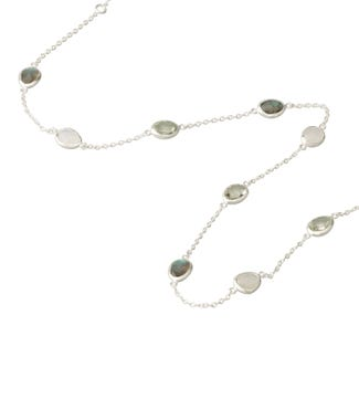 The Mara Sterling Silver & Gemstone Necklace | OSPREY LONDON