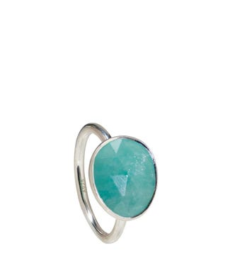 The Mara Sterling Silver & Amazonite Ring | Women | OSPREY LONDON