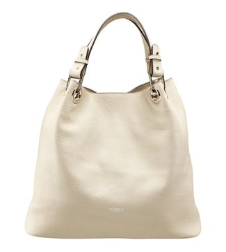 The Marla Italian Leather Hobo in cream | OSPREY LONDON