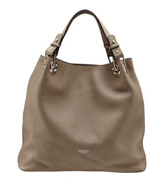 The Marla Italian Leather Hobo in taupe | OSPREY LONDON