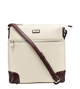 The Marlow Leather Cross-Body in cream | OSPREY LONDON