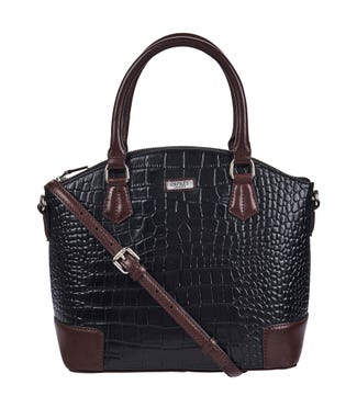 The Marlow Leather Grab in black | OSPREY LONDON