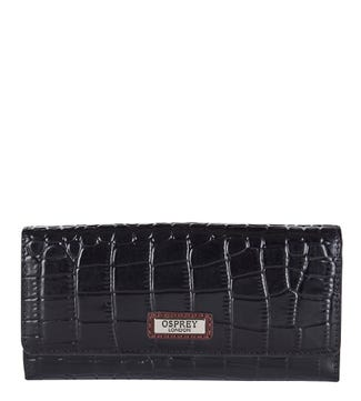 The Marlow Leather Matinee Purse in black | OSPREY LONDON
