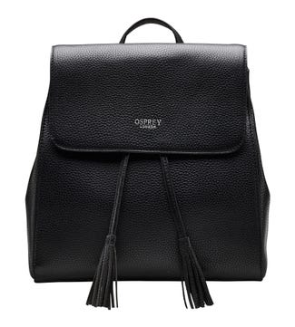 The Megan Leather Rucksack in black | OSPREY LONDON