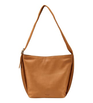 The Millie Leather Hobo in nut  OSPREY LONDON