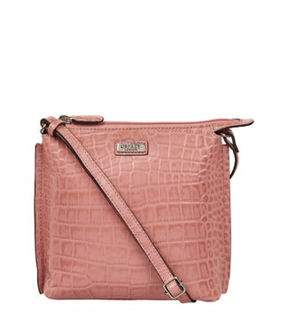 The Minster Leather Cross-Body in old rose | OSPREY LONDON