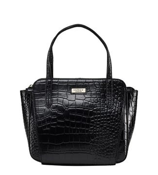 The Minster Leather Grab in black | OSPREY LONDON