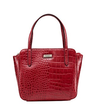 The Minster Leather Grab in chilli red| OSPREY LONDON