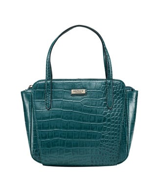 The Minster Leather Grab in teal| OSPREY LONDON