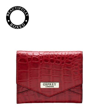 The Small Minster Leather Matinee Purse in chilli red | OSPREY LONDON