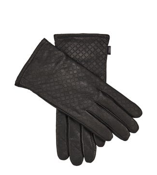 The Paige Touch Screen Leather Gloves in black | OSPREY LONDON