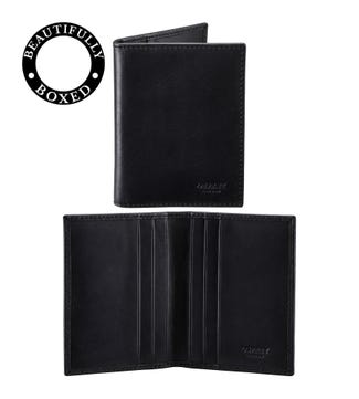 The Pall Mall Leather Cardholder in black | OSPREY LONDON