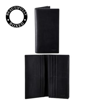 The Pall Mall Leather Dress Wallet in black | OSPREY LONDON
