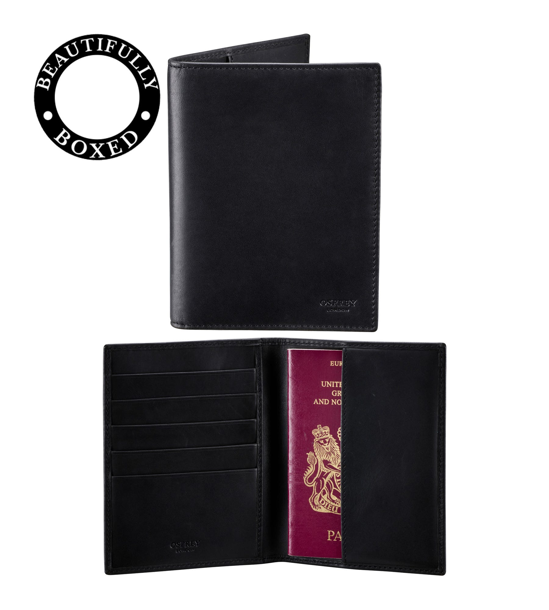 An image of The Pall Mall Leather Passport Cover