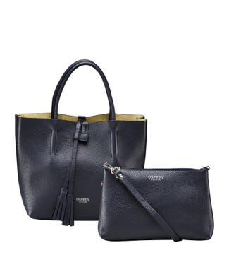 The Portofino 3 in 1 Italian Leather Grab in midnight | OSPREY LONDON