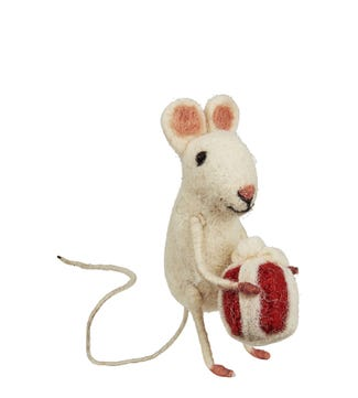 Present Mouse in Felted Wool | OSPREY LONDON