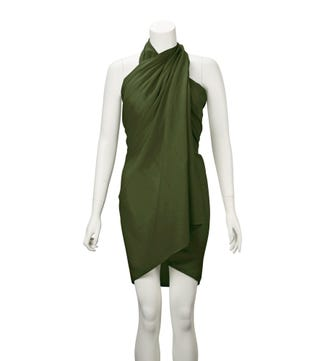 The Rainbow Cotton 3-in-1 Wrap in olive