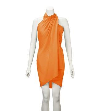 The Rainbow Cotton 3-in-1 Wrap in orange