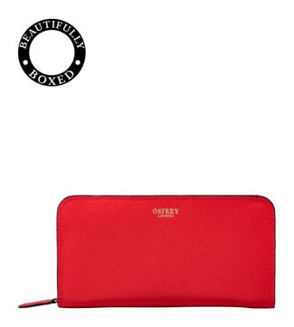 The Rainbow Leather Purse Red
