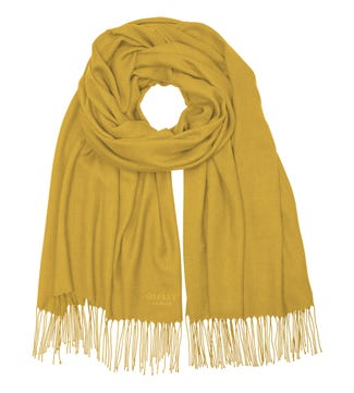 The Rainbow Wrap in mustard yellow | OSPREY LONDON