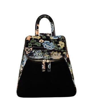 The Rhoda Leather & Suede Backpack in black | OSPREY LONDON