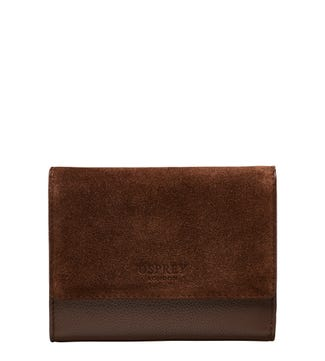 The Rhoda Leather & Suede Matinee Purse in chocolate | OSPREY LONDON