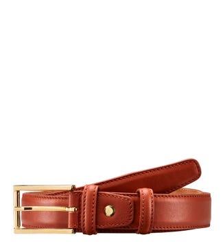 The Rialto Spanish Saddle Leather Belt in cognac | OSPREY LONDON