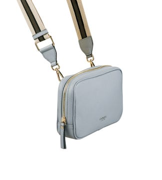 The Roma Italian Leather Convertible Cross-Body in parma blue | OSPREY LONDON