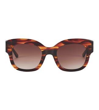 Seabreeze Sunglasses in brown | OSPREY LONDON