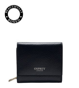 The Small Daria Leather Matinee Purse in midnight
