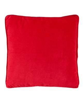 The Square Velvet Cushion red | OSPREY LONDON