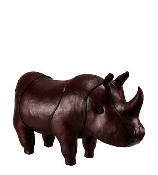 The Standard Leather Rhinoceros in mahogany brown | OSPREY LONDON