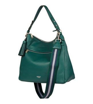 The Stella Leather Hobo in forest green | OSPREY LONDON