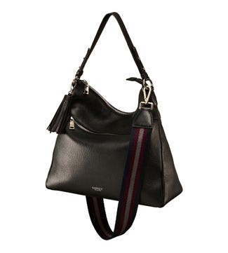 The Stella Leather Hobo in inky black | OSPREY LONDON