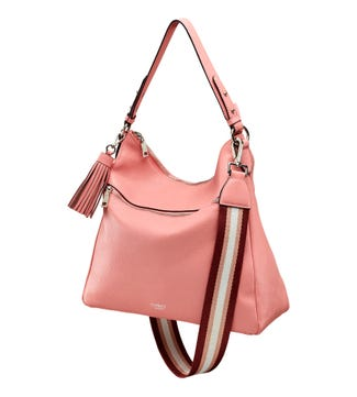 The Stella Leather Hobo in rose pink | OSPREY LONDON