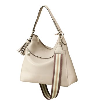 The Stella Leather Hobo in taupe | OSPREY LONDON