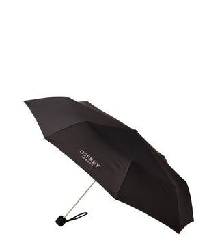 The Stowaway Folding Umbrella in black | OSPREY LONDON