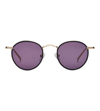 Tianzi Sunglasses in black | OSPREY LONDON